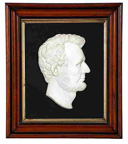 Composite Marble Profile of Abraham Lincoln by C.N. Pik