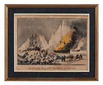 Currier & Ives, American Whalers Crushed in the Ice