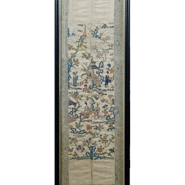 """Chinese """"Blind Stitch"""" Embroidered Wall Hangings - 2"""