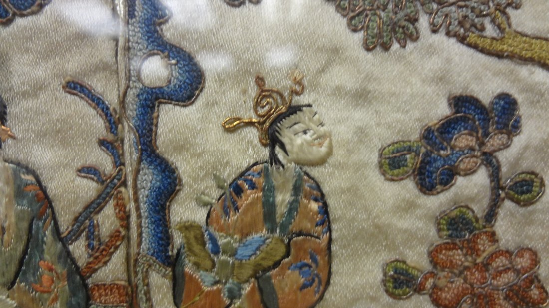 """Chinese """"Blind Stitch"""" Embroidered Wall Hangings - 4"""