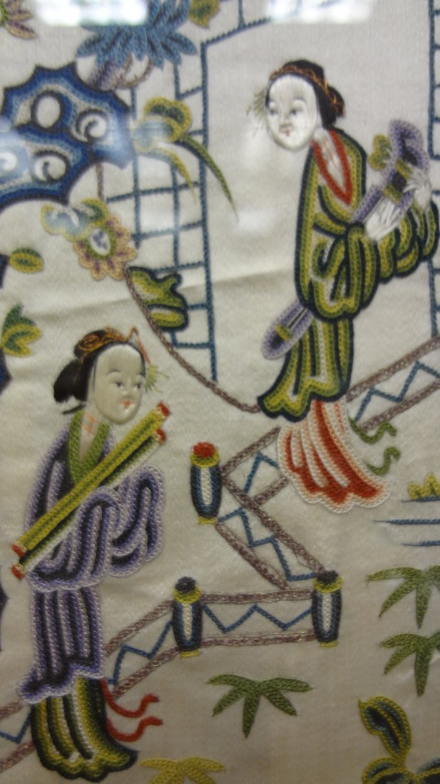 """Chinese """"Blind Stitch"""" Embroidered Wall Hangings - 5"""
