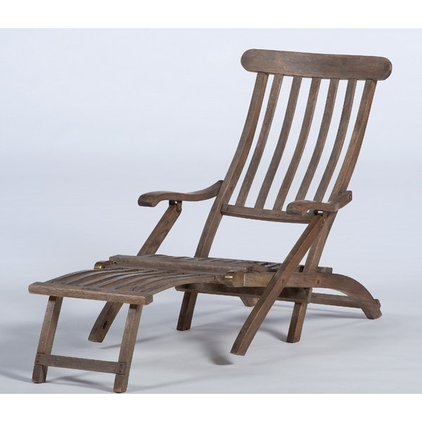 M.S. Queen Elizabeth Teak Deck Chair
