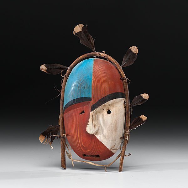 Nunivak Island Painted Mask From the Collection of Dr.