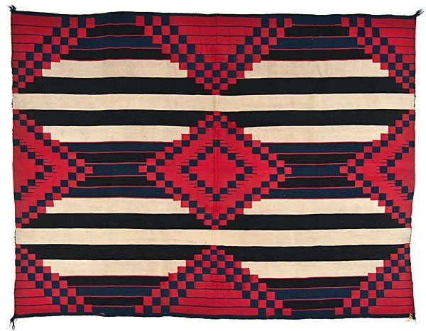 Navajo Third Phase Chief's Blanket From the Collection