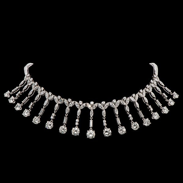28 Ct Platinum & Diamond Necklace Made for Marge Schott