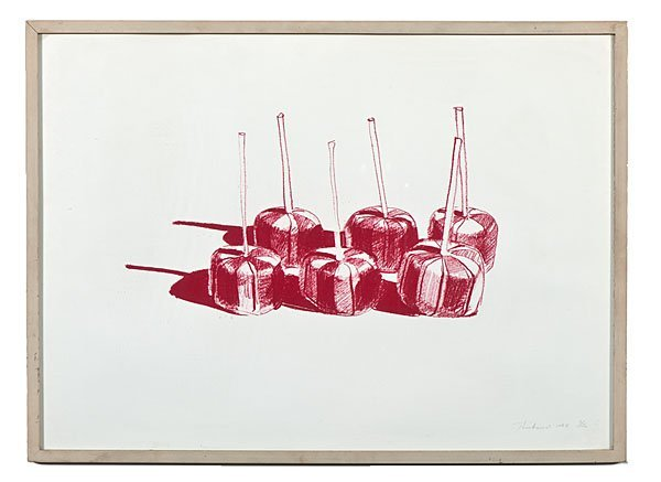 Six Candied Apples by Wayne Thiebaud