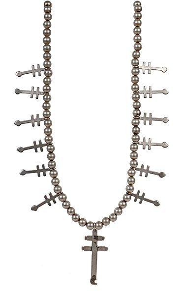 Navajo Silver Cross Necklace