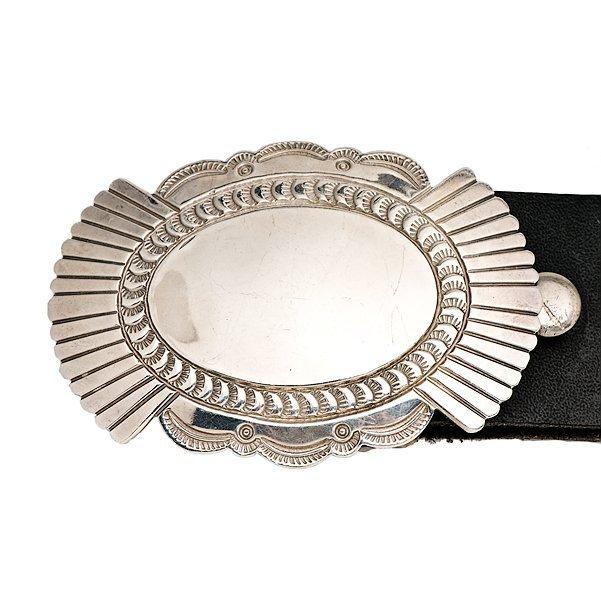 Leonard Nez Navajo Silver Concha Belt