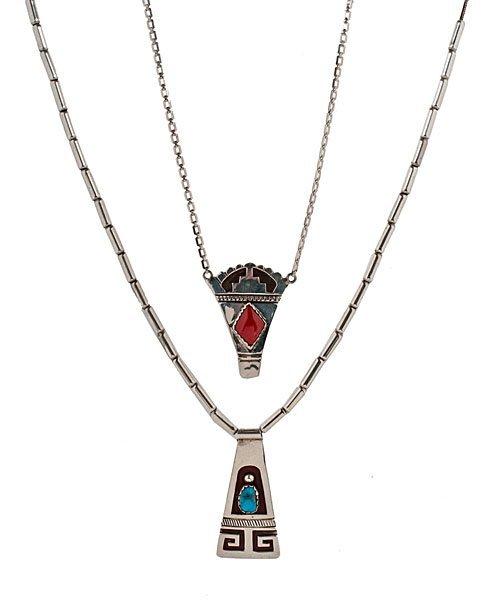 Joe H. Quintana (1915-1991) Cochiti Silver Necklaces