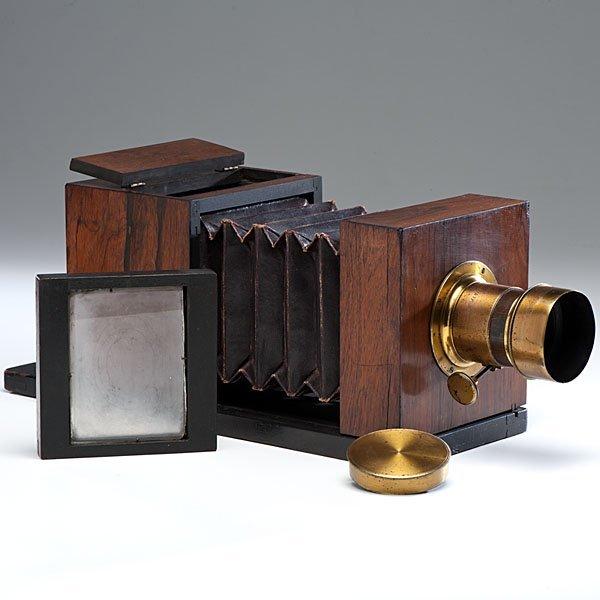 Lewis Half Plate Daguerreotype Camera Jamin/Darlot Lens - 2
