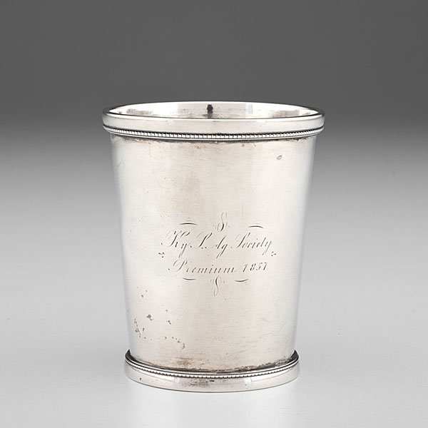 Kentucky Agricultural Society Coin Silver Julep Cup by