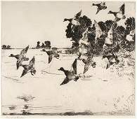The Passing Flock by Frank Weston Benson