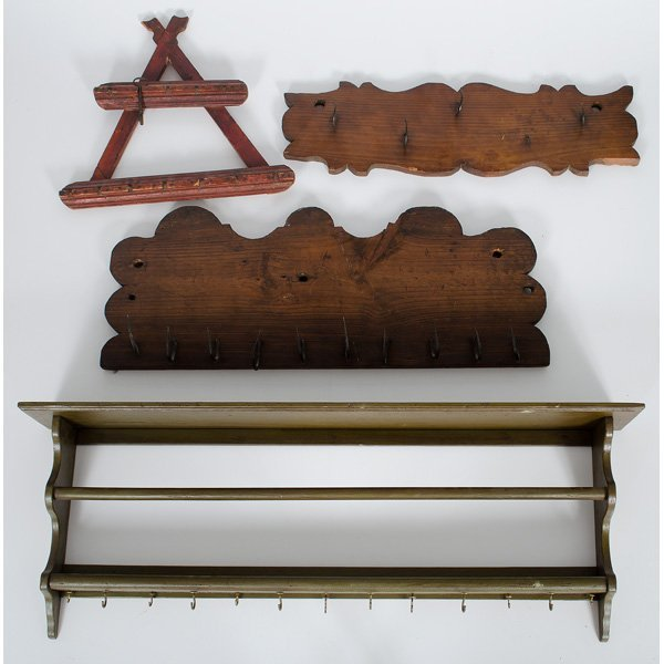 Wood and Wrought Iron Racks