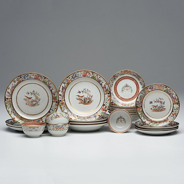 Assembled Chinese Export Partial Tea Set