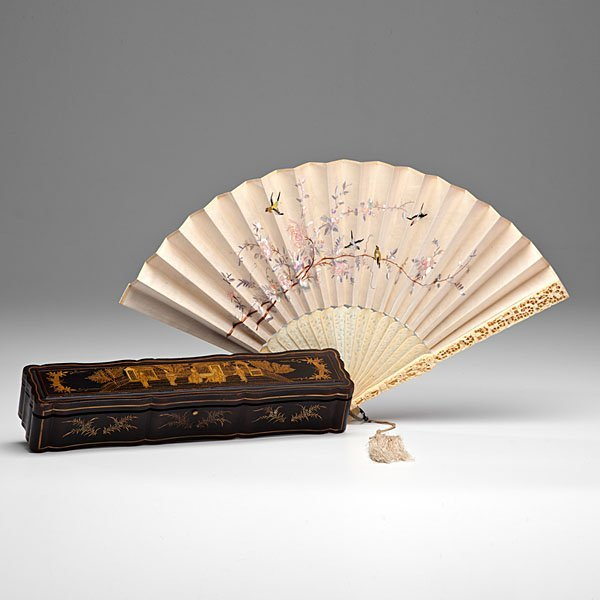 Very Fine Cantonese Ivory Export Fan in Original