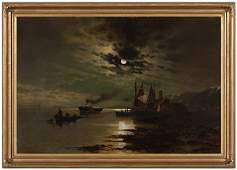 Hudson Under the Moonlight by Maurits de Haas