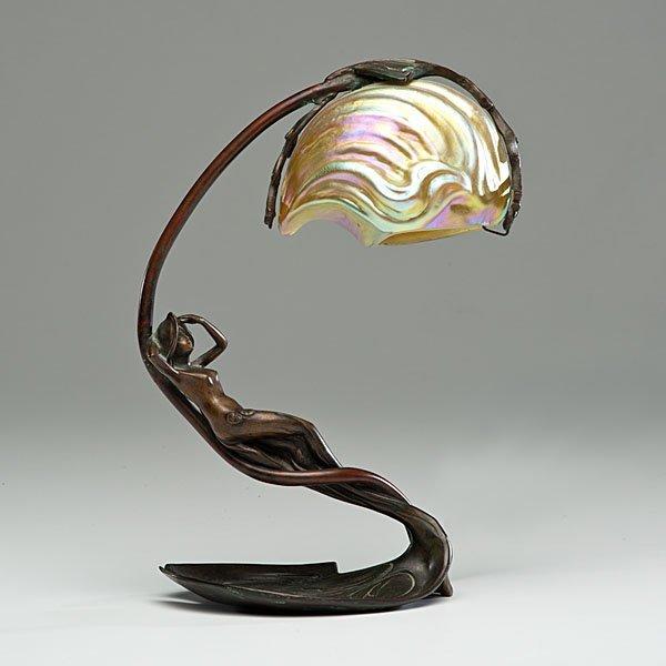 Art nouveau nautilus lamp by c bonnefond - Art deco et art nouveau ...