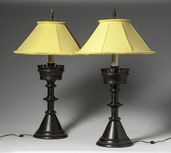 Bronze Pricket Stick Lamps