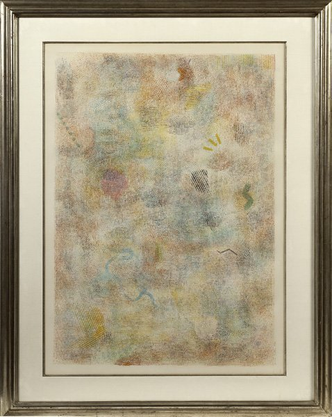 20th Century Abstract Lithograph in Colors
