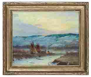 Joseph Henry Sharp (American, 1859-1953) Oil on Canvas