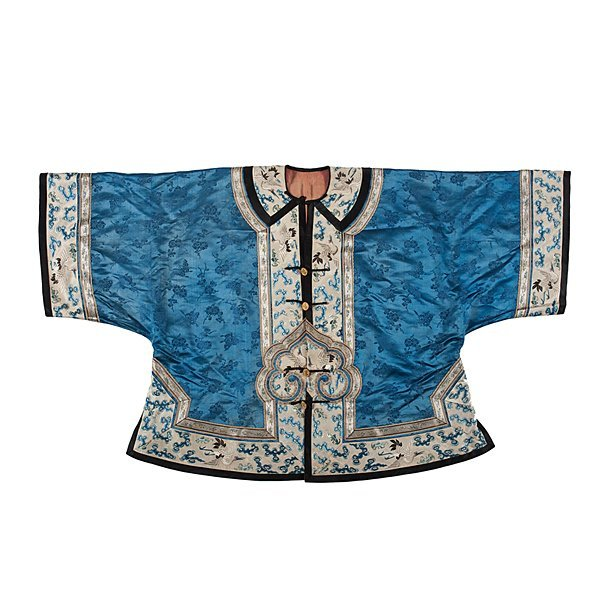 Chinese Embroidered Blue Ceremonial Robe