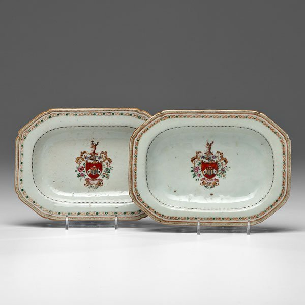 Chinese Export Armorial Trays