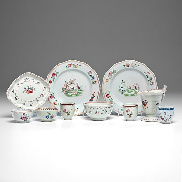Chinese Export Porcelain, Assembled Group