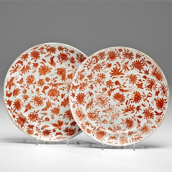 Chinese Export Floral Plates