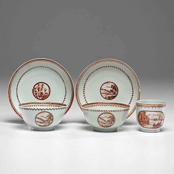 Chinese Export Porcelain, Cups and Saucers