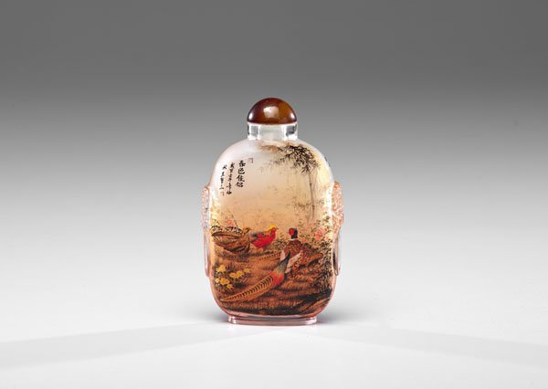 A Fine Chinese Export Inside Painted Bottle