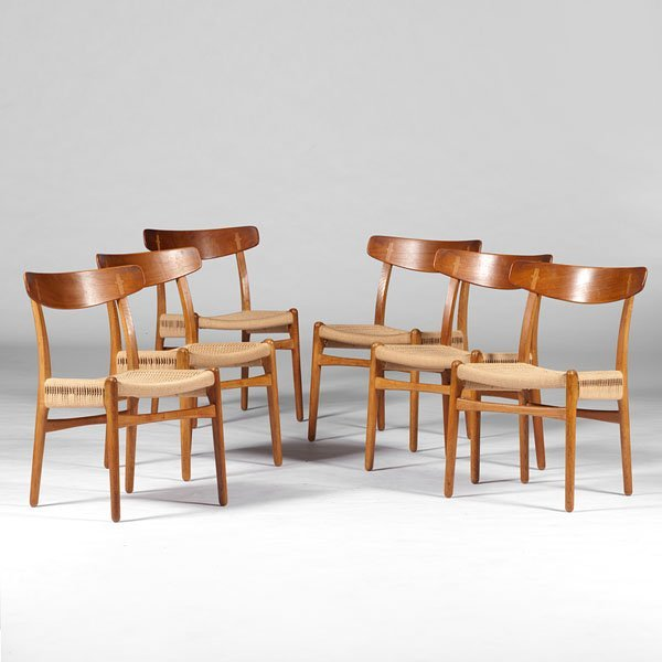 Hans Wegner Woven Seat Side Chairs