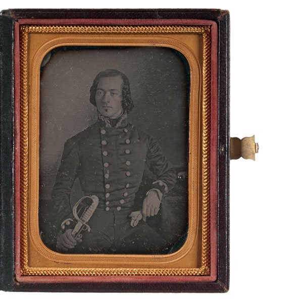 Quarter Plate Daguerreotype of British Royal Navy