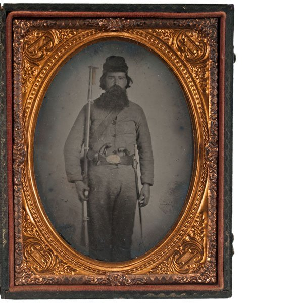 Quarter Plate Ambrotype of Soldier, Possibly