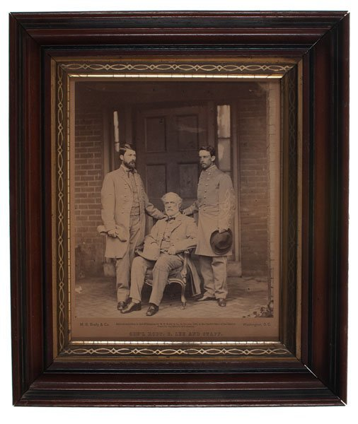 Scarce General Robert E. Lee and Staff Photograph by