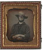 Sixth Plate Daguerreotype of a Miner