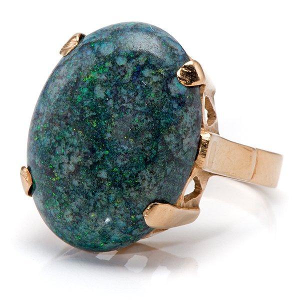 Ladies 18 Karat Matrix Opal Ring