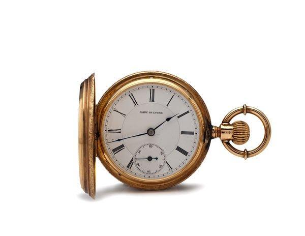 Lady of Lyons 18 Karat Hunter Case Pocket Watch