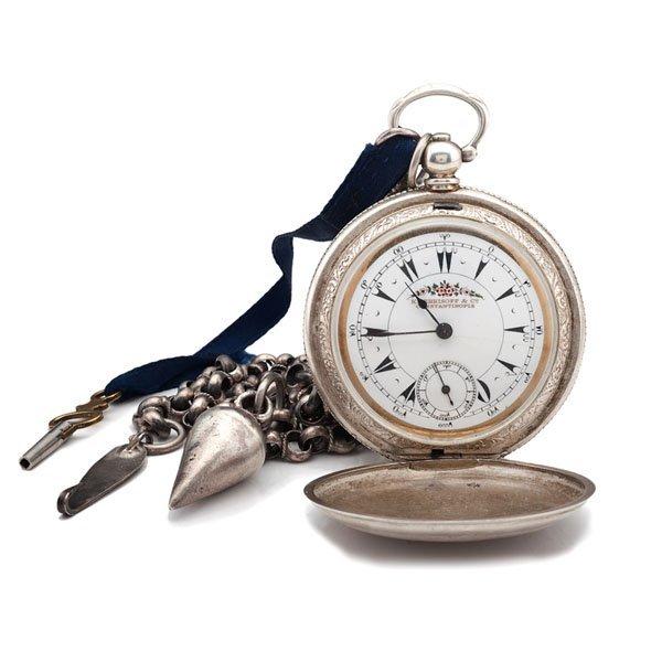 K Serkisoff Hunter Case Key-Wind Pocket Watch