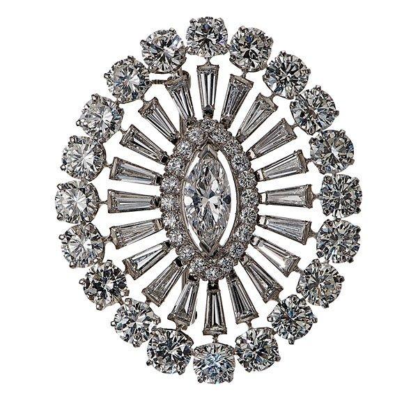 Ladies Platinum and Diamond 18 Carat Brooch Made For