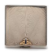 Sterling Silver and 14 Karat Gold Ladies Compact