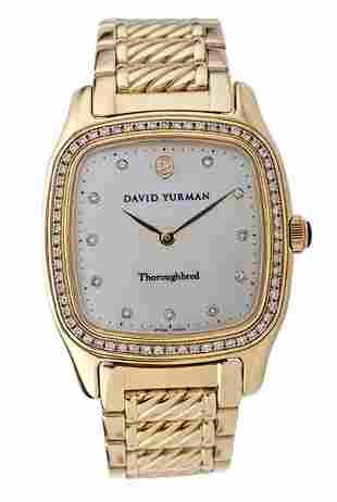 """David Yurman 18 Karat Yellow Gold """"Thoroughbred"""" Wrist"""