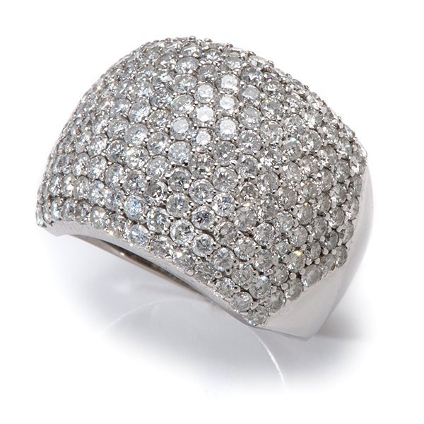 Ladies 18mm 4 Carat Total Weight Pavé Dome Ring