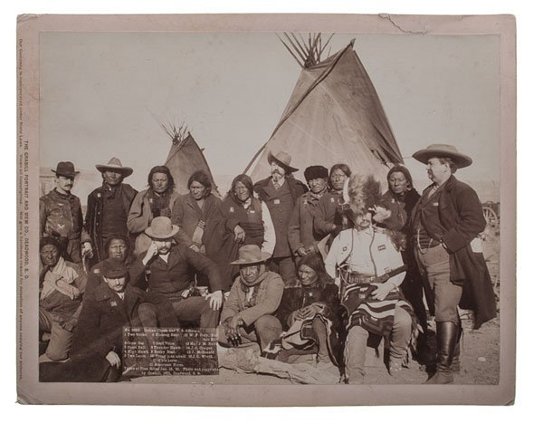 Indian Chiefs and U.S. Officials, Incl. Wm. F. Cody, at