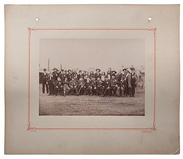 Buffalo Bill Cody with Survivors of the Battle of