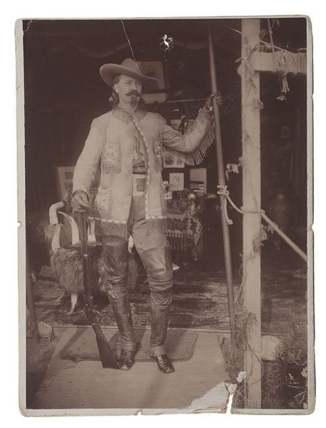 Albumen Photograph of Buffalo Bill Posed at the