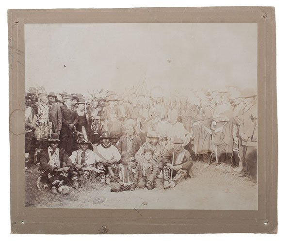 Buffalo Bill Cody at Peace Meeting with Sioux and