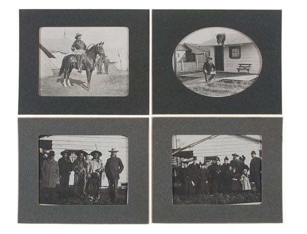 Series of Photographs Including Buffalo Bill and Chief