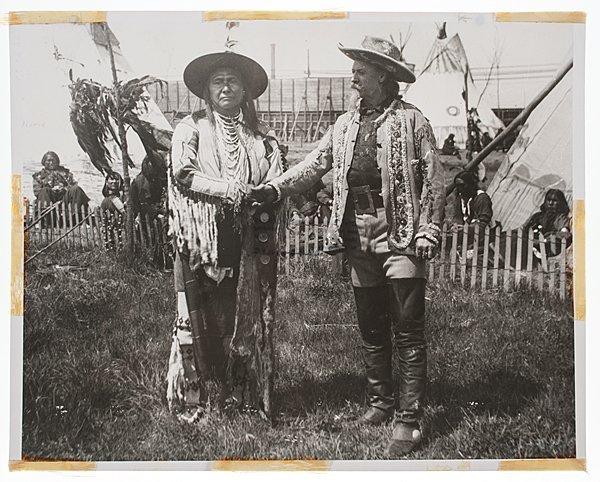 Buffalo Bill Cody Shaking Hands with Chief Joseph,