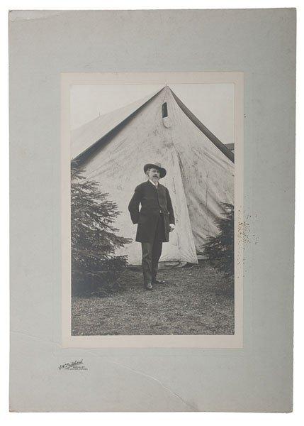 Outdoor Portrait of Buffalo Bill Cody in Dundee,