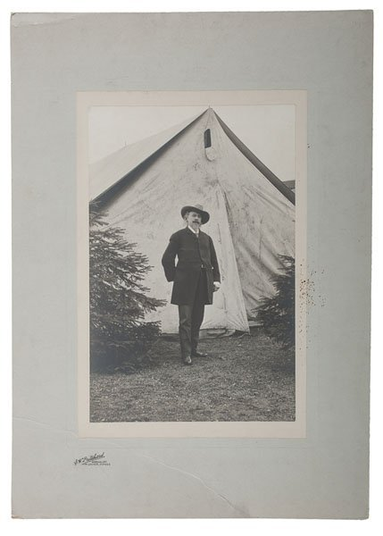 Outdoor Portrait of Buffalo Bill Cody in Dundee,
